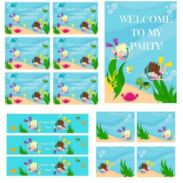 picture relating to Under the Sea Printable named Cost-free PRINTABLES Less than the Sea Birthday Occasion Printables