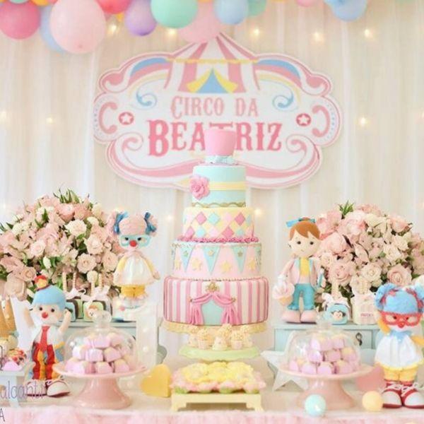 Girly Circus + Dumbo Birthday Party