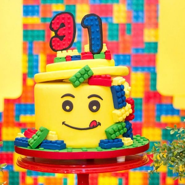 Bright & Colorful Girl LEGO Party