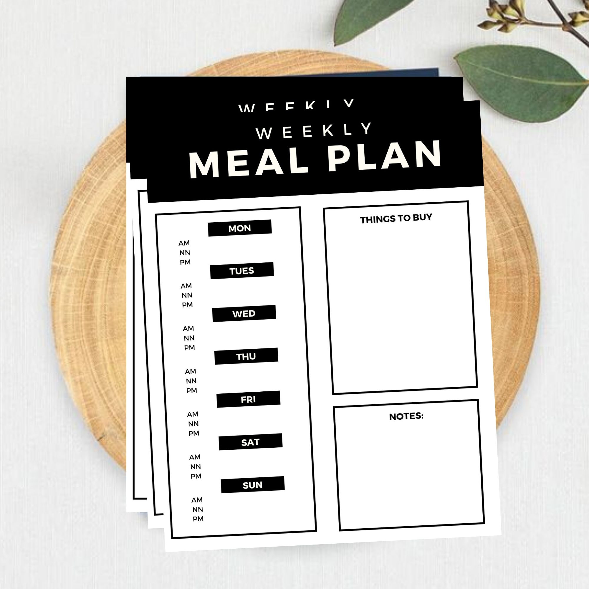 FREE Printable Weekly Meal Planner