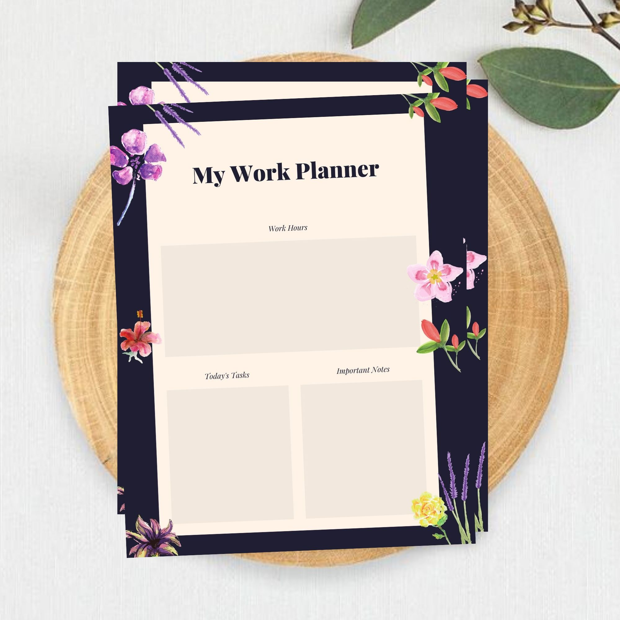 FREE Printable My Work Planner