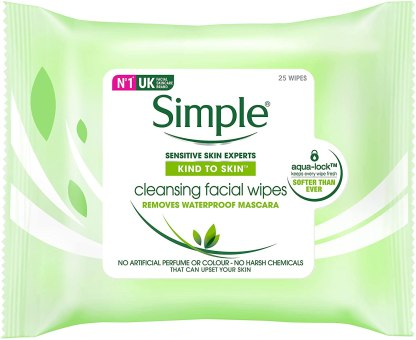 Simple Cleansing Facial Wipes 25p