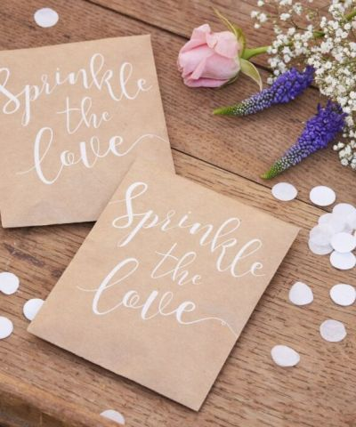 Konfettiposer natur sprinkle with love