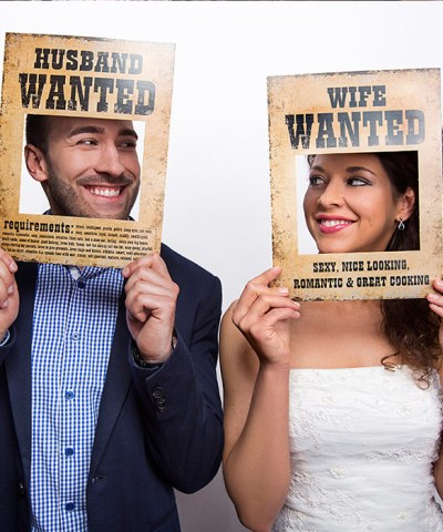 Photobooth props husband wanted og wife wanted