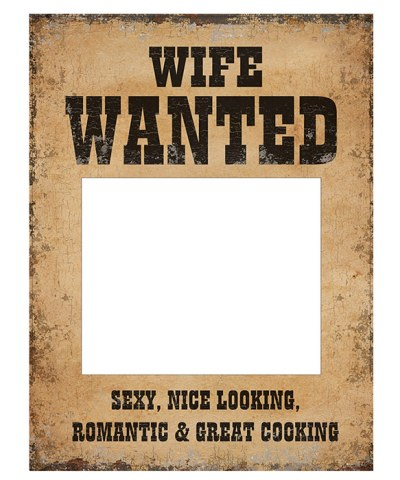 Wife wanted skilt