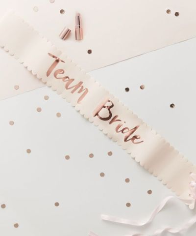 Team bride sash