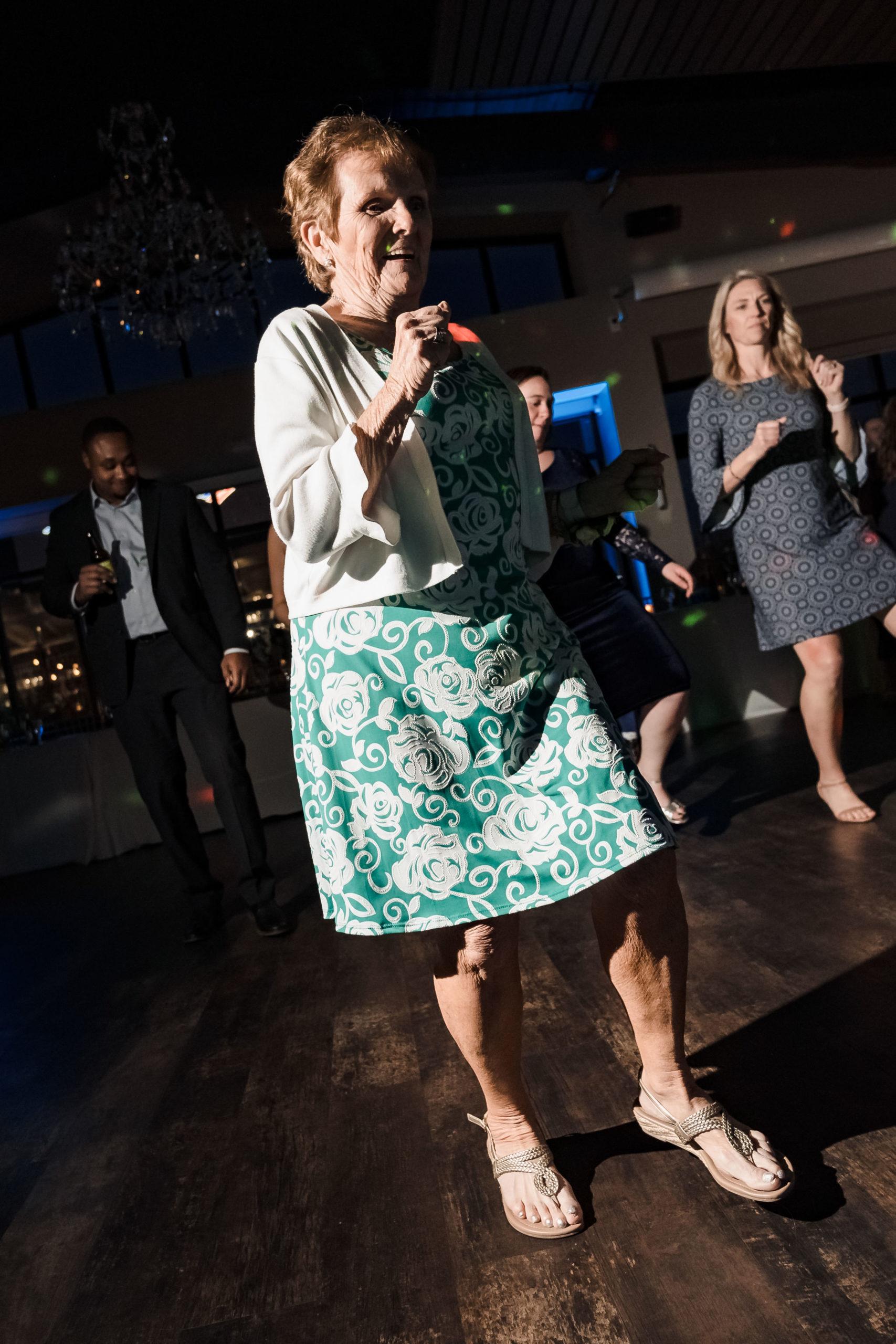 Grandma dancing at wedding