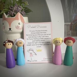 Pocket princess peg dolls