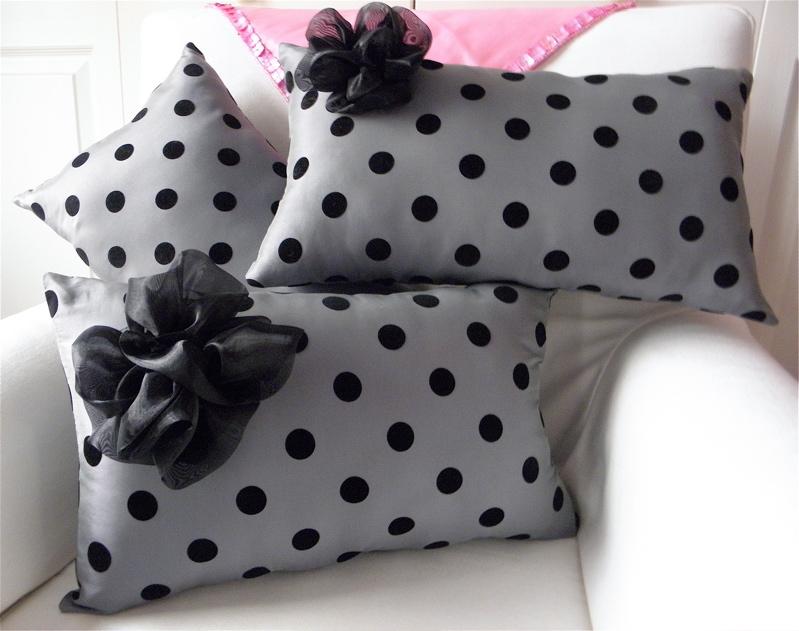 Sew So Cute Adorable Polka Dot and Ruffle Pillows