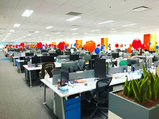 Helium Balloons Decoration for office party