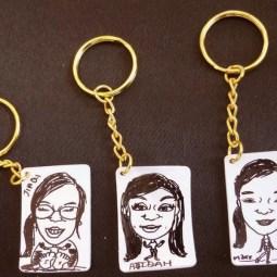 Keychain Caricature