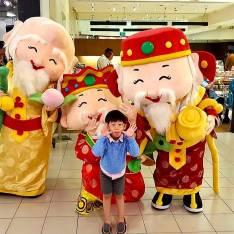 fu lu shou mascot for hire