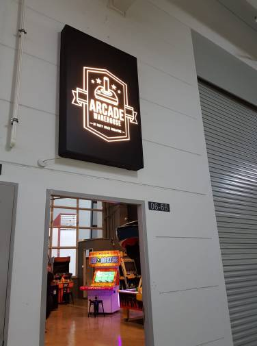 Arcade Warehouse Signage