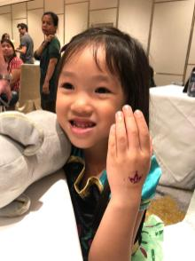 kids glitter tattoo