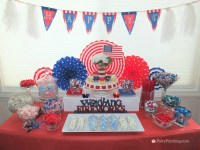 4th of July dessert ideas, easy patriotic candy buffet ...