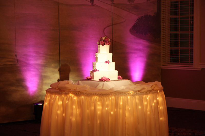 Cake Table Lighting  Party Pleasers Services