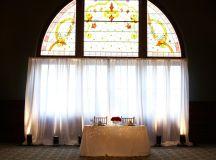 Fort Piqua Plaza-Wall Drape- Uplighting-Sweetheart Table ...