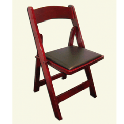 Folding Chair Rental Chicago Foam Cushion Inserts For Chairs Mahogany Rustic Wood Garden Area