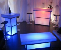 Light Up Cocktail Table & Bar