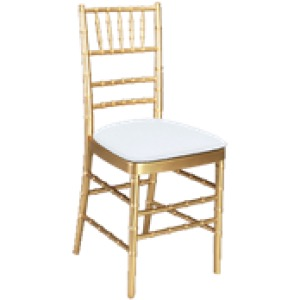 chair covers rental cleveland ohio black outdoor rocking cushions chiavari gold resin with pad party safari