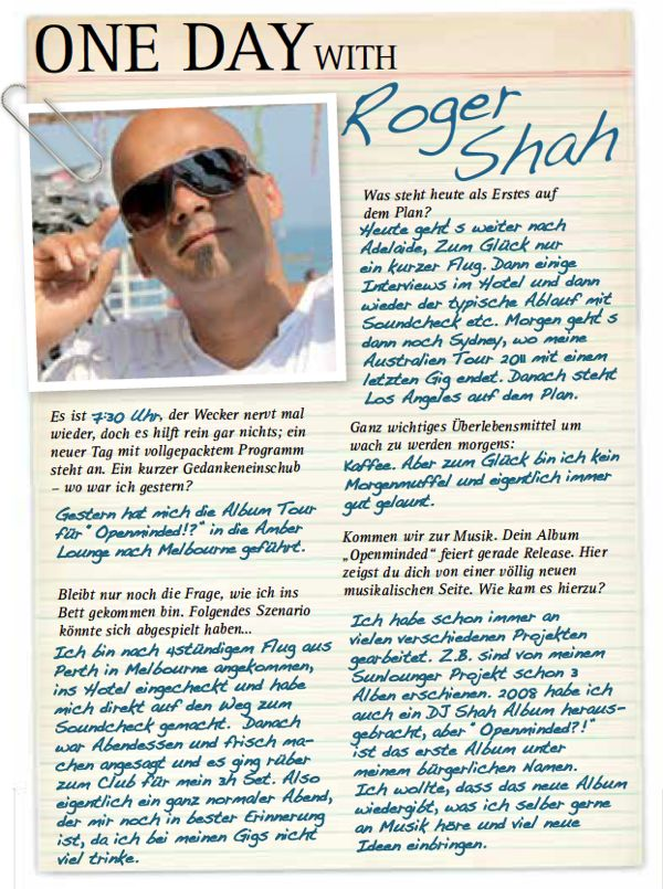 One Day with Roger Shah