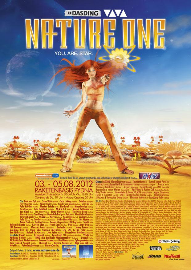 Nature One 2012 Flyer Plakat