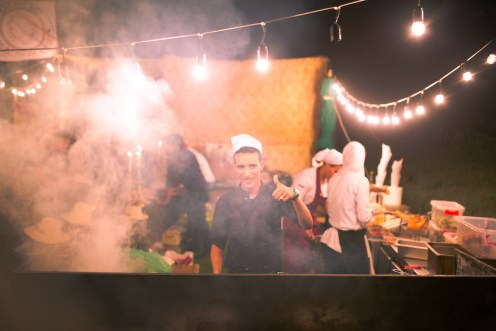 Oasis Festival Marrakech, Morocco, 2016. Food Court, Burger, Kefta, Juices and Drinks.