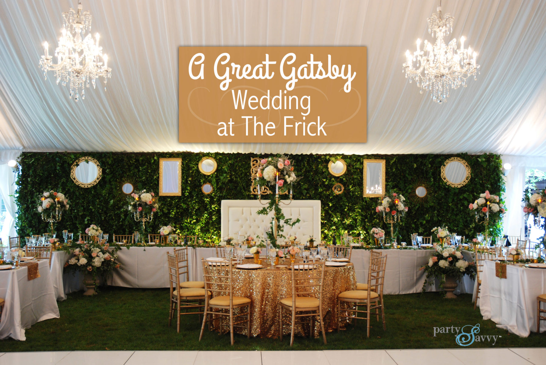 A Great Gatsby Wedding at The Frick