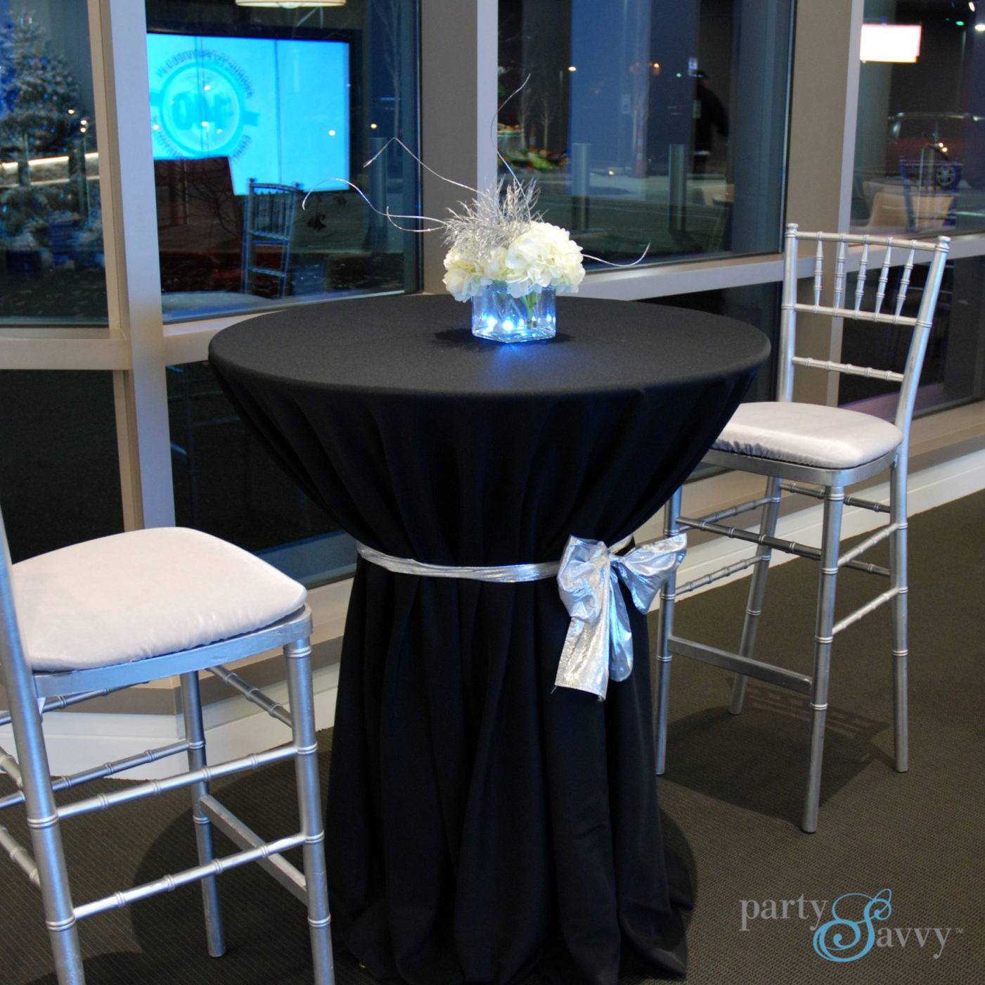 Where Can I Rent Tables And Chairs Stand Up Cocktail Table Rental High Top Tables Partysavvy