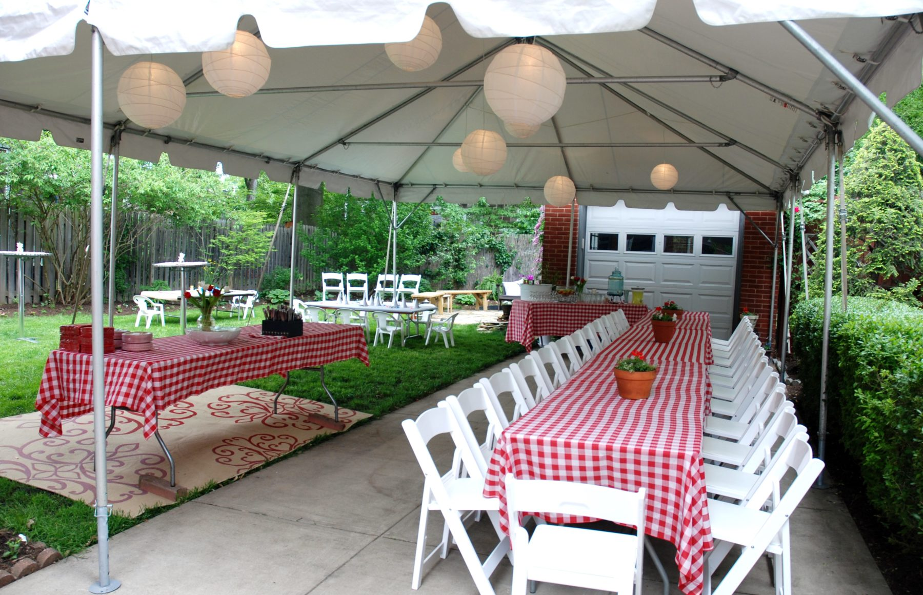 hight resolution of frame tent rental with banquet tables