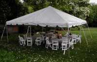 20'x30' Party Canopy & White Frame Tent Layouts