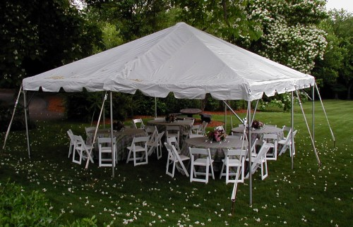 small resolution of frame tent with round tables