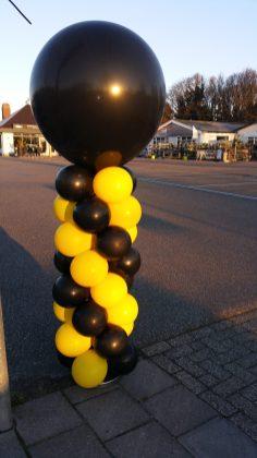 Geel/zwart normale pilaar