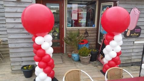 Rood/wit rode top normale pilaar