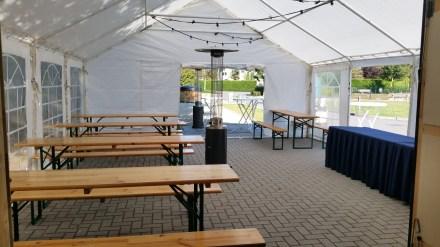 6x8 tent met picknick sets