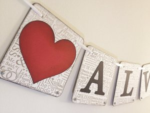 Always Wedding Pennant Banner from Etsy