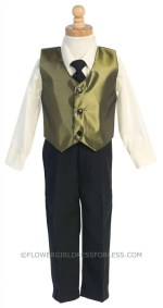 Olive Green Ring Bearer Outfit
