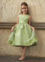 Light Spring Green Flower Girl Dress