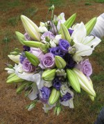 Purple, Green, White Bouquet