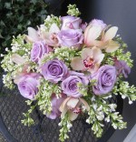 Purple, Peach and Green Bouquet