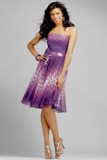 Purple Polka Dot Bridesmaid Dress by Alexia