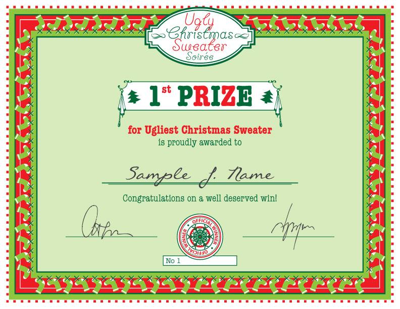 christmas certificate