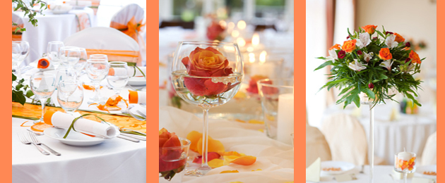 Vibrant Orange Wedding Decor Blog by Party Simplicity