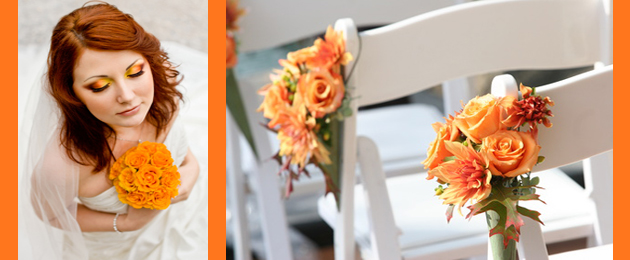 Orange wedding flower tips and ideas