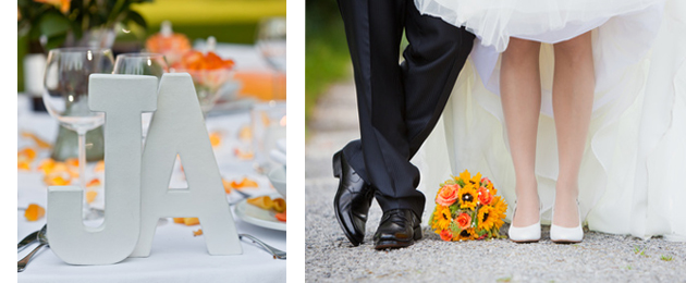 Vibrant Orange Wedding Ideas Blog by Faith Gauthier