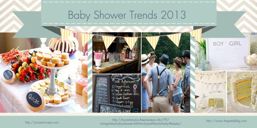 Stylish Baby Shower Trends for 2013