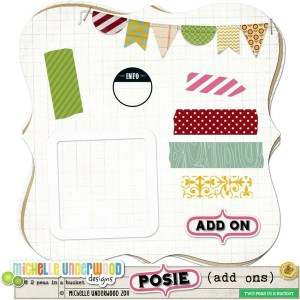 Banners and washi tape Free Scrapbooking Pages Printables