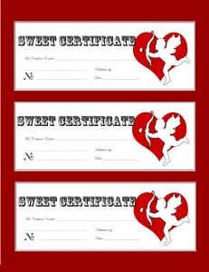 Free Printable Valentines Day Love Coupons Gift Certificate