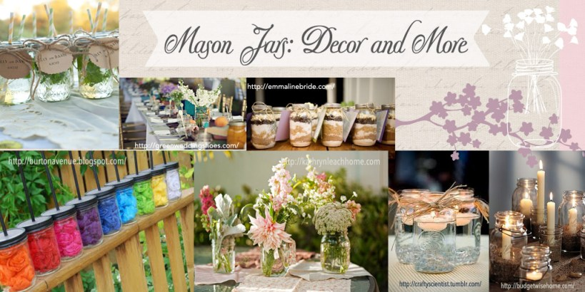Rustic Bridal Shower Decor DIY Decorations : MASON JARS