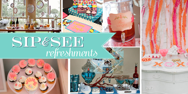 Sip and See refreshments